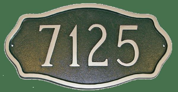 Cast Aluminum Address Plaque