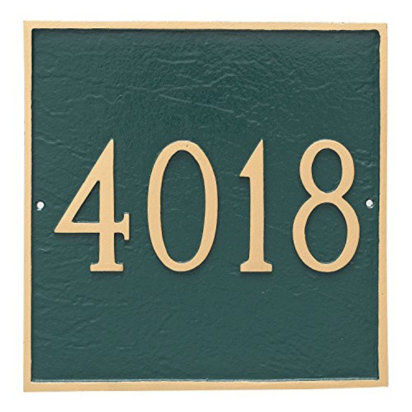 House Numbers Only - Shown in Hunter Green/Gold
