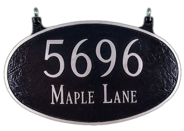 Two Sided Hanging Address Plaque