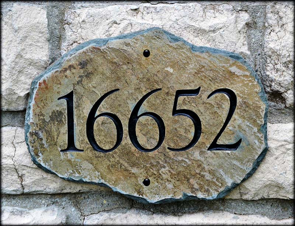 House Number Plaques Slate: Slate House Numbers Plaque