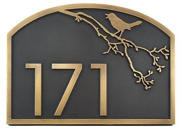 Songbird Address Plaque