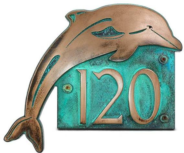 Dolphin Address Plaque