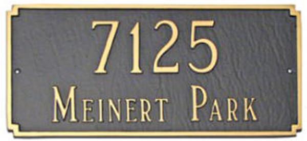 Cast Aluminum Address Plaque. Rust Free and Durable