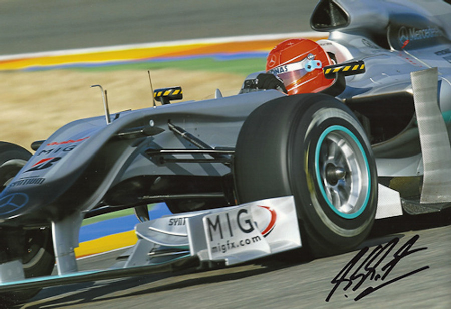 Michael Schumacher Signed Photograph 2010 - 8