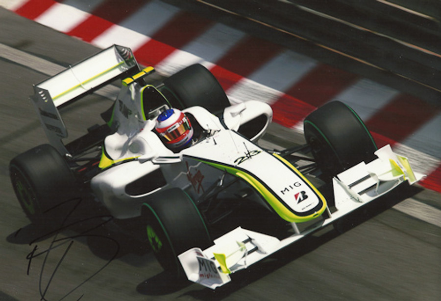 Rubens Barrichello Signed Photograph Monaco 2009