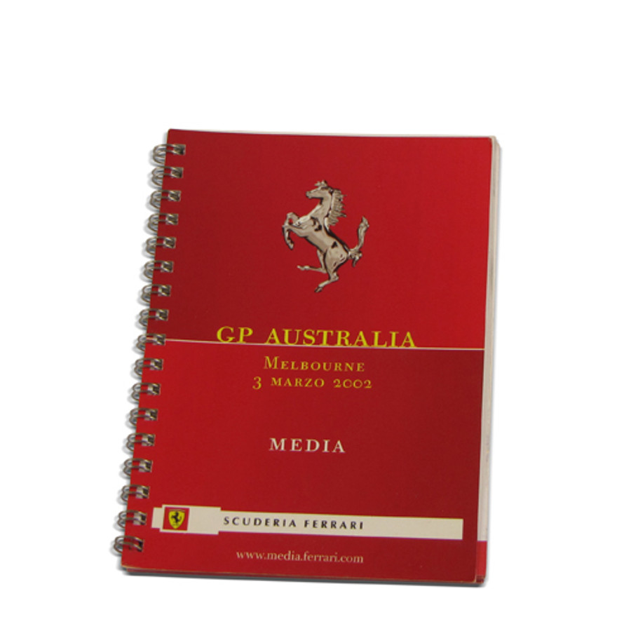 Ferrari Australian Grand Prix 2003 Media Book
