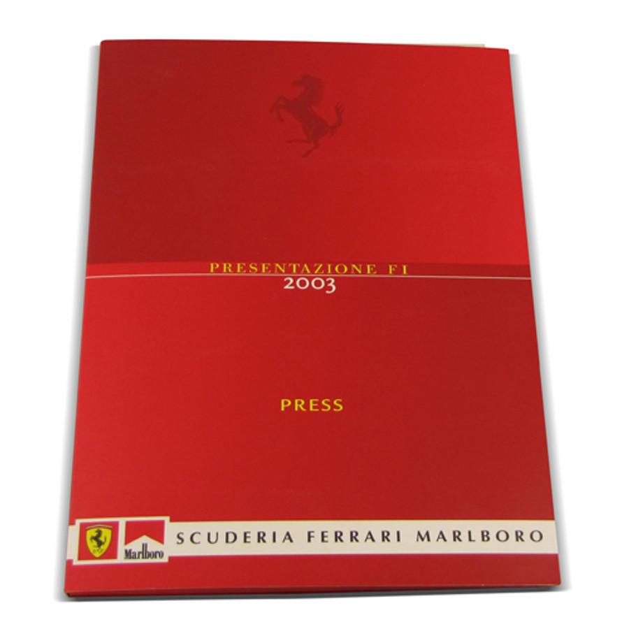 Ferrari F2003 Presentation Press Kit