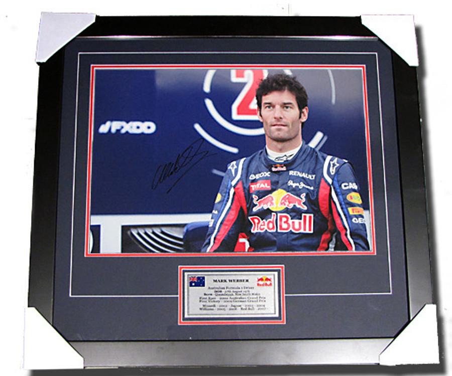 2011 Mark Webber Signed Frame