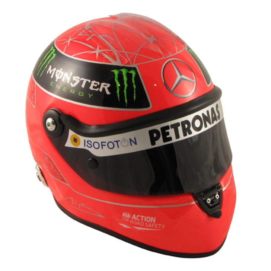 Michael Schumacher Schuberth Half Scale Replica helmet 2012 Edition