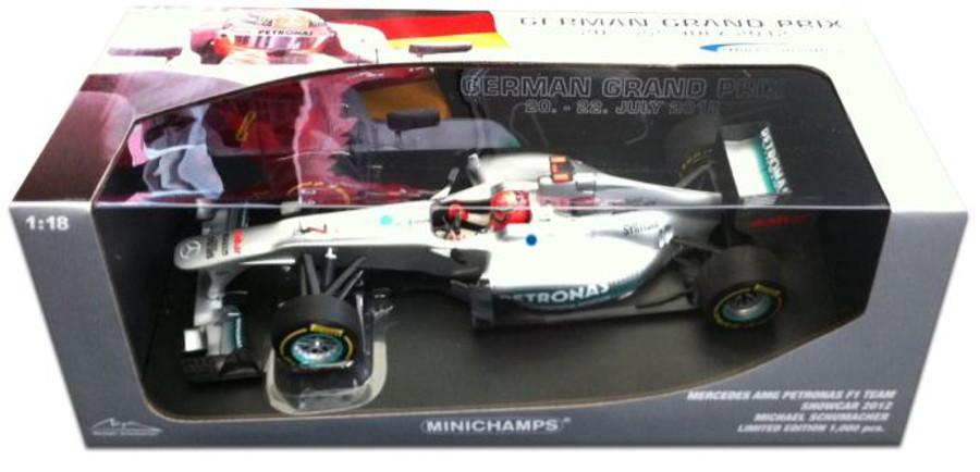 """Michael Schumacher 2012 """"Hokenheim Edition"""" 1:18 Minichamps Model"""