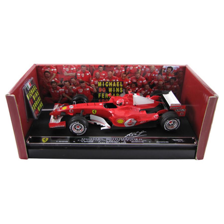 Michael Schumacher SIGNED 'Grazie Schumi' 5-Time Monza Winner Limited Edition 1:18 Ferrari Model