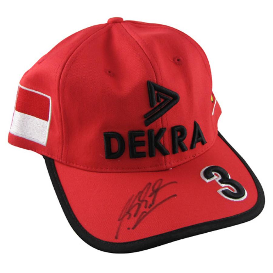 Michael Schumacher DEKRA 1998 Signed Drivers Cap