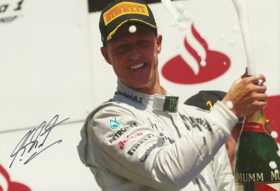 Michael Schumacher Signed Mercedes 2012 Valencia (3rd Place) Photograph - 2