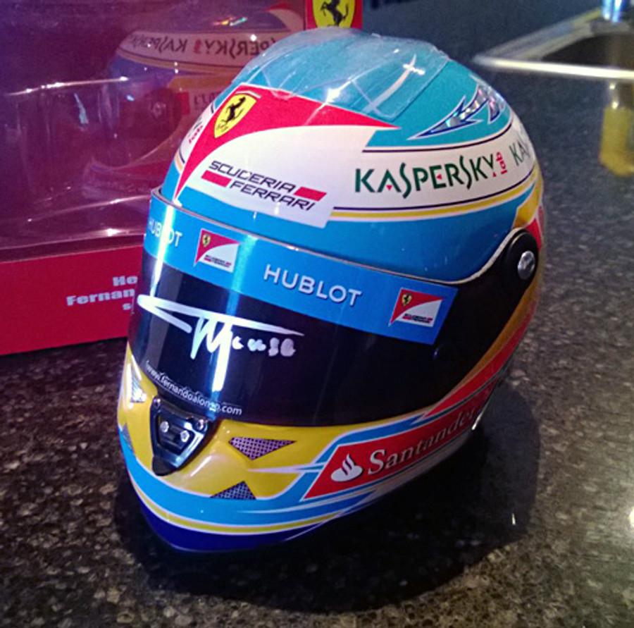Fernando Alonso Signed Half Scale 2013 Replica Helmet
