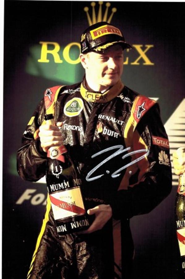 Kimi Raikkonen Signed Framed Lotus 2013 Photograph - 3