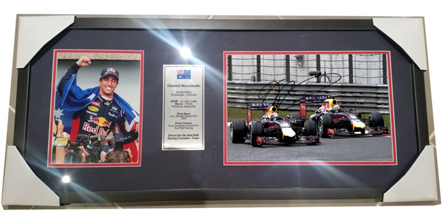 2014 Daniel Ricciardo Red Bull Signed Frame - 1