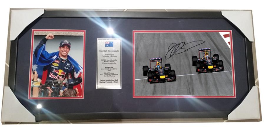 2014 Daniel Ricciardo Red Bull Signed Frame - 2