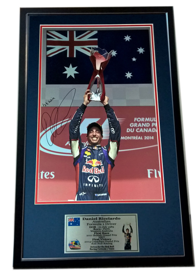 LIMITED EDITION - Daniel Ricciardo Red Bull Canada '1st Win' Signed Frame