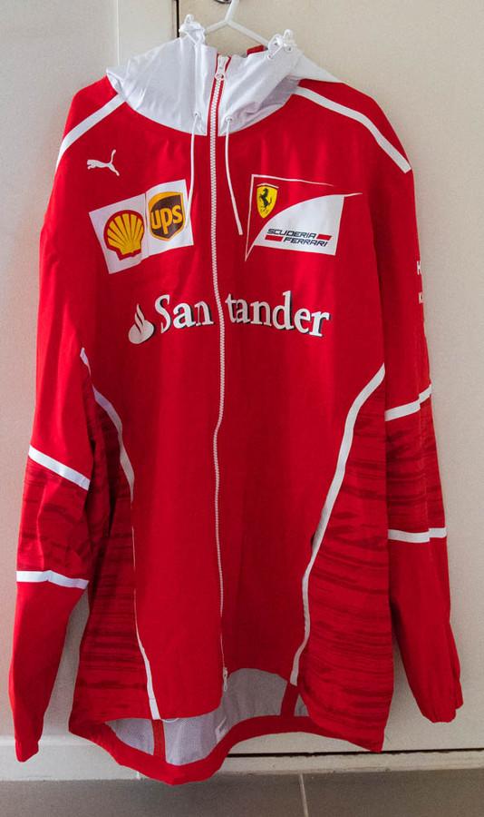 2017 Ferrari PUMA Team Issue Rain Jacket