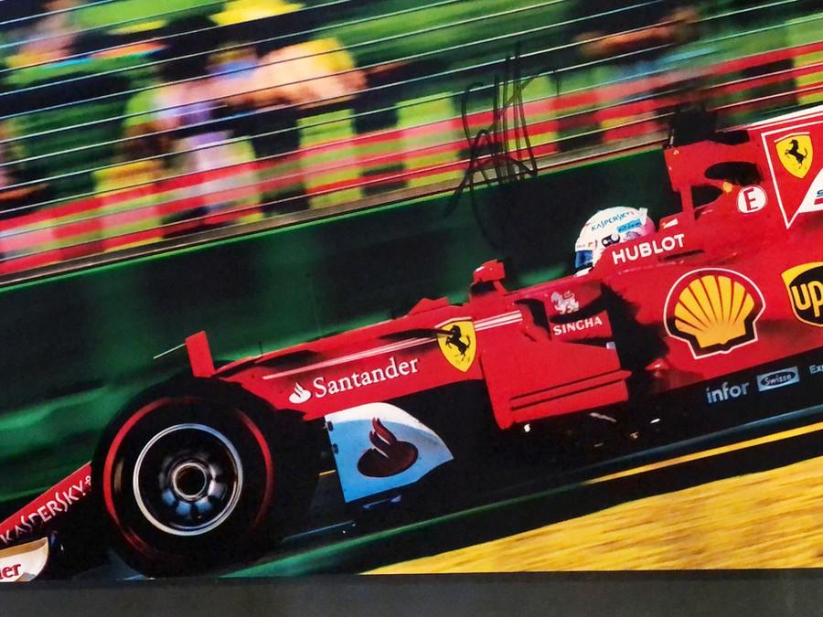 Sebastian Vettel Signed 2017 Australian GP Ferrari Photograph