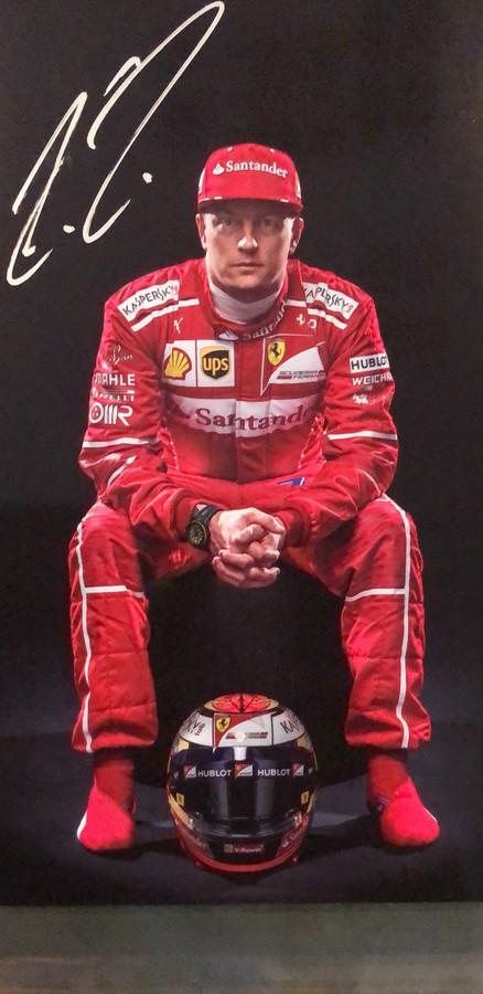 Kimi Raikkonen Signed Ferrari Driver Card