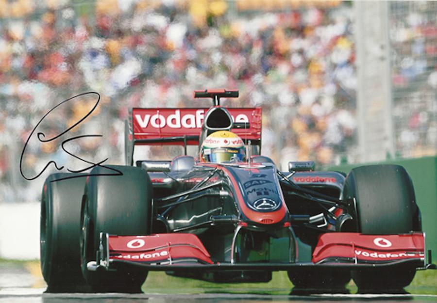 Lewis Hamilton Signed Photograph Australia 2009