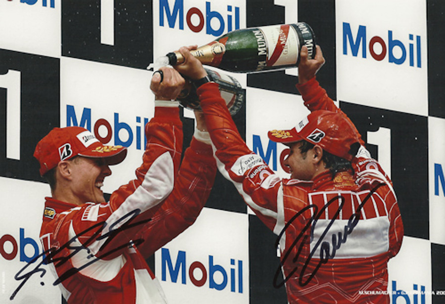 Michael Schumacher & Felipe Massa Signed Photograph Germany 2006