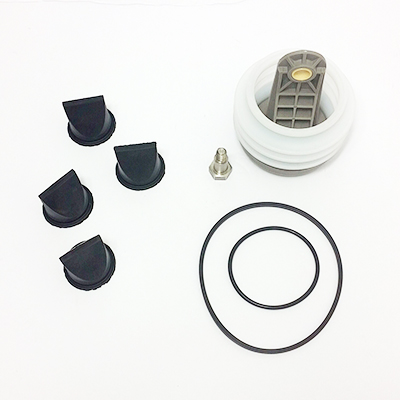 "This kit contains: 4- 1 1/2"" duck bill valves (600347802), 1- bellows (385230980) 1- set of o'rings (310151) for the new style 8 bolt pattern  pumps."