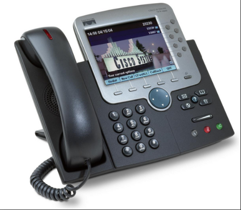 Cisco CP-7970G IP Phone Color LCD SIP CallManager ; Cisco CP 7970G Phone,ip phone,voip phones,voice over ip      phone, phone over ip; The Cisco CP 7970G is a state of the art IP phone which       includes a backlit color high resolution touch screen display ; The CP 7970G has access to eight telephone lines and hands       free speakerphone; This Cisco IP phone supports power over ethernet Sup.