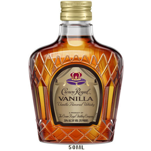 50ml Mini Crown Royal Vanilla Canadian Whisky