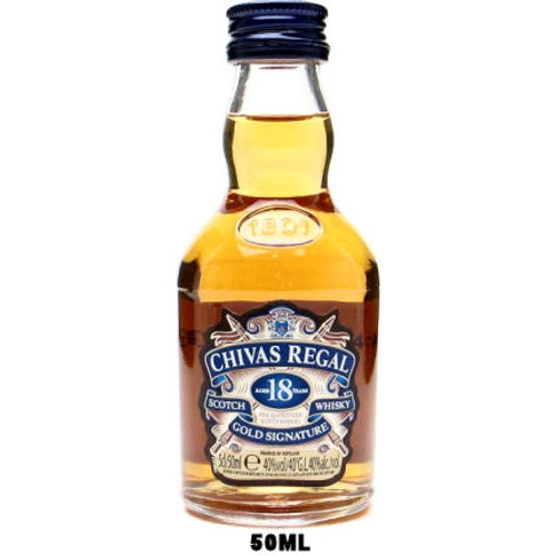 50ml Mini Chivas Regal 18 Year Old Blended Scotch