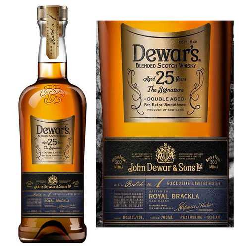 Dewar's 25 Year Old The Signature Double Aged Blended Scotch 750ml