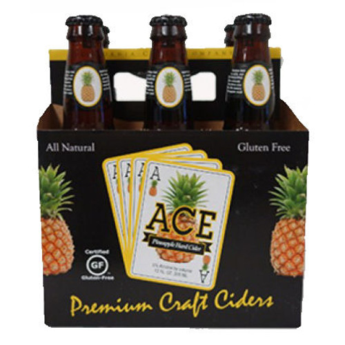 Ace Pineapple Hard Cider 12oz 6 Pack
