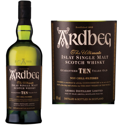Ardbeg 10 Year Old Islay Single Malt Scotch 750ml