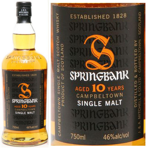 Springbank 10 Year Old Campbeltown 750ml