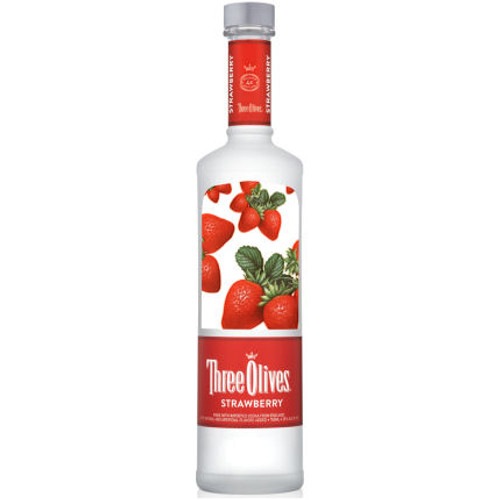 Three Olives Strawberry Vodka 750ml