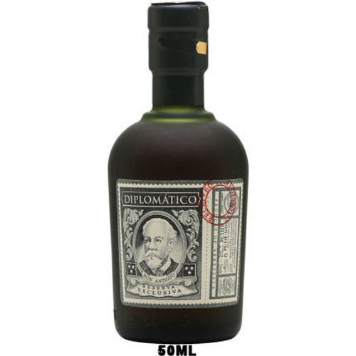 50ml Mini Diplomatico Reserva Exclusiva 12 Year Old Venezuelan Rum