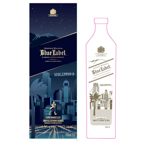 Johnnie Walker Blue Label Los Angeles City Edtion Blended Scotch 750ml