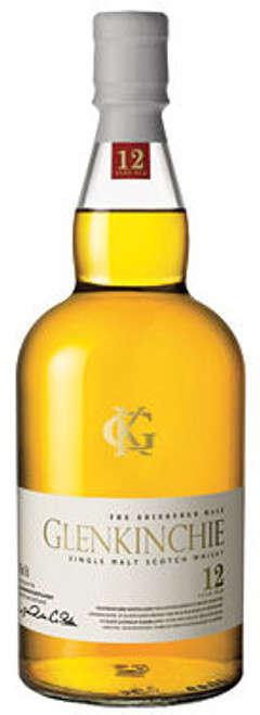 Glenkinchie 12 Year Old Lowland Single Malt Scotch 750ml Etch