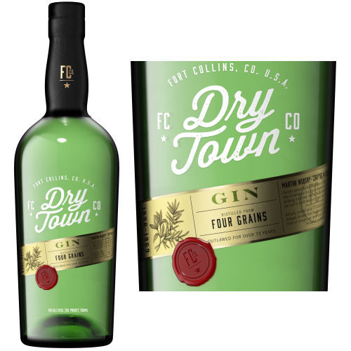 Dry Town Four Grain Handcrafted Gin 750ml