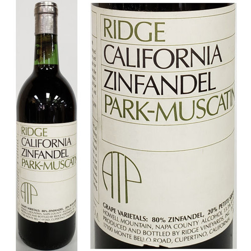 Ridge Park-Muscatine Howell Mountain Zinfandel