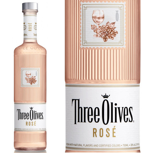 Three Olives Rose Vodka 750ml