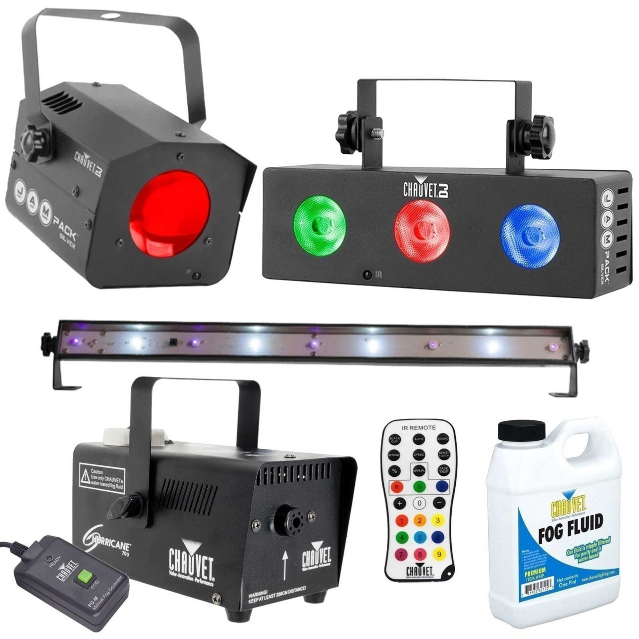Chauvet dj jam pack silver fog machine package for Lighting packages for new homes