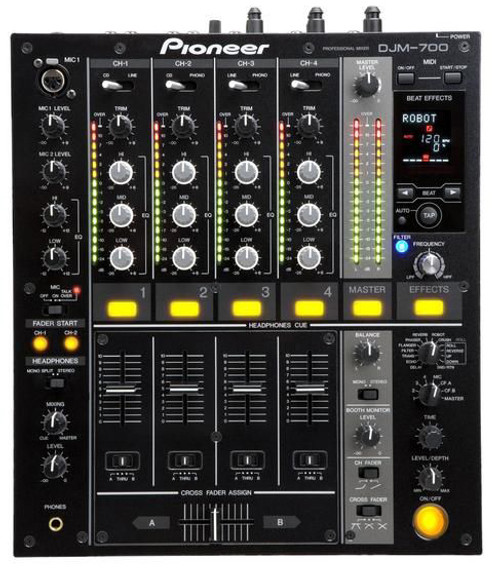pioneer djm 700 k pro dj mixer black rh gearclubdirect com Pioneer CDJ 2000 Mixer 800 Pioneer Road