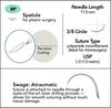5-0 Sterile Micro Suture, 11mm, 3/8 Circle, Spatula Precision Cutting Needle   AROSuture™ BP11A05N-45