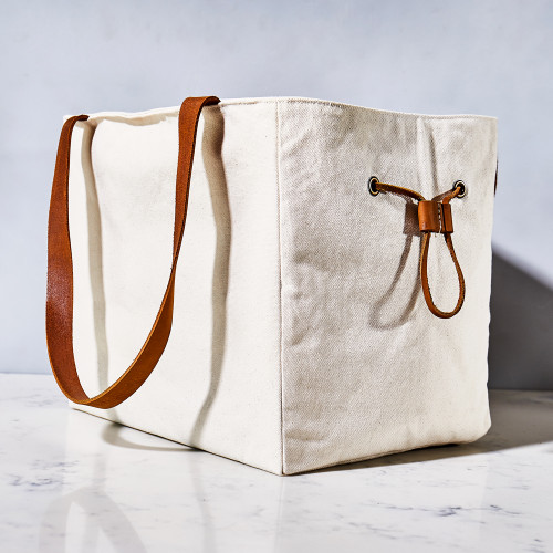 Etta Large Canvas Tailgate & Picnic Tote by Millie Lottie