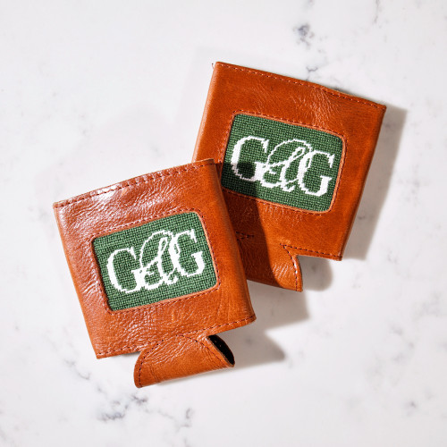 Garden & Gun Leather Coozie by Smathers & Branson