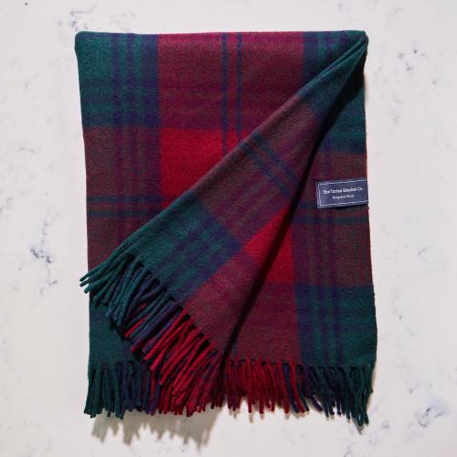 Recycled Wool Blanket in Lindsay Tartan by The Tartan Blanket Co.