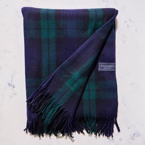 Recycled Wool Blanket in Black Watch Tartan by The Tartan Blanket Co.