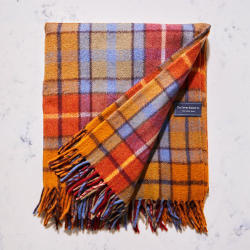 Recycled Wool Blanket in Antique Buchanan by The Tartan Blanket Co.